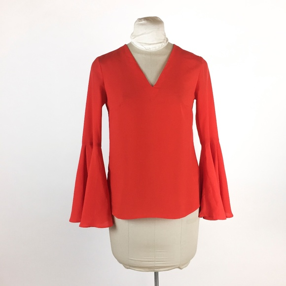 deb1d078 Banana Republic Tops | Orange Blouse Ruffle Bell Sleeve | Poshmark